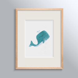 WHALES NO 2 POSTER