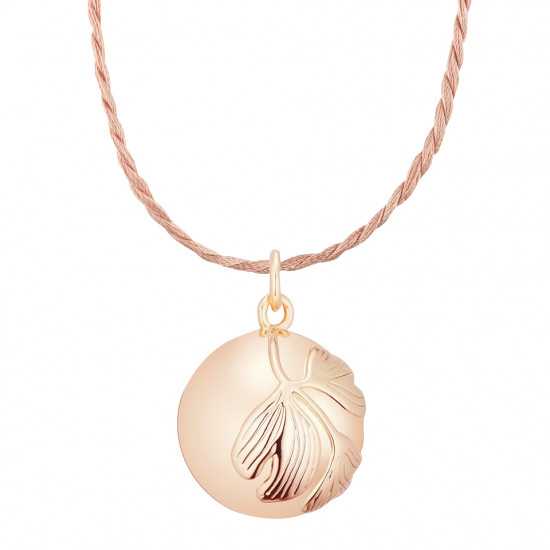GINGKO PREGNANCY NECKLACE PINK GOLD