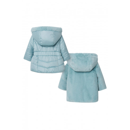 REVERSIBLE FAUX FUR COAT FOR BABY GIRL