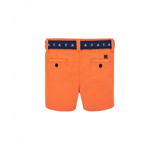 BERMUDA SHORTS WITH CONTRASTING BELT FOR BABY BOY
