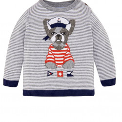 EMBROIDERED DESIGN JUMPER FOR BABY BOY