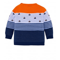 PATTERNED STRIPED JUMPER FOR BABY BOY
