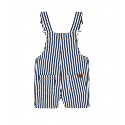 SHORT STRIPED DUNGAREES FOR BABY BOY