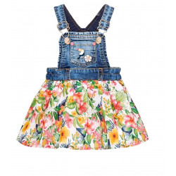 PATTERNED DUNGAREE SKIRT FOR BABY GIRL