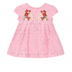 EMBROIDERED LACE DRESS FOR BABY GIRL