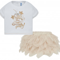 T-SHIRT AND TULLE SKIRT SET FOR BABY GIRL