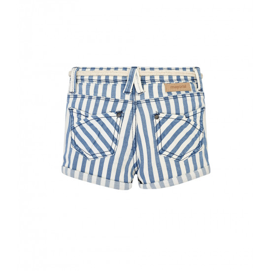 STRIPED SHORTS WITH BELT FOR GIRL