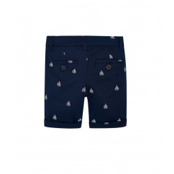 PATTERNED BERMUDA CHINO SHORTS FOR BOY