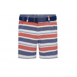 STRIPED BERMUDA SHORTS WITH BELT FOR BOY