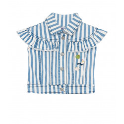 STRIPED VEST WITH TAGS FOR GIRL