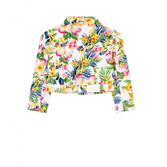 TROPICAL PATTERNED JACKET FOR GIRL
