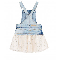 COMBINED DUNGAREE SKIRT WITH TULLE FOR GIRL