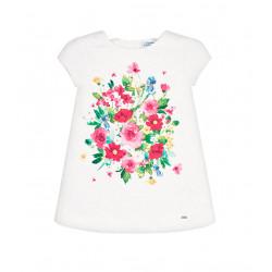 FLORAL DESIGN DRESS FOR MINI GIRL