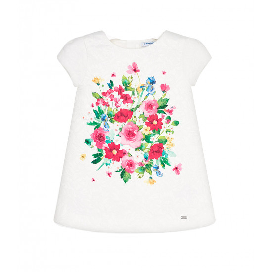 FLORAL DESIGN DRESS FOR MINI GIRL