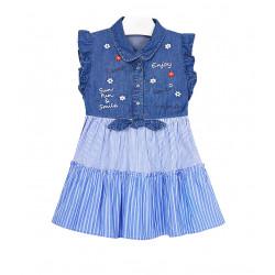COMBINED DENIM DRESS FOR GIRL