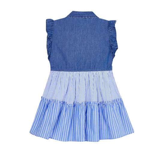 COMBINED DENIM DRESS FOR GIRL