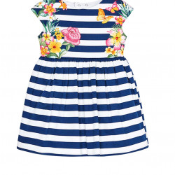 FLARED STRIPED DRESS FOR GIRL