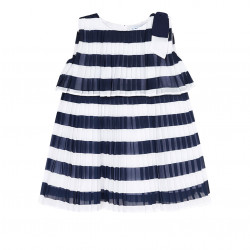 PLEATED STRIPED DRESS FOR GIRL