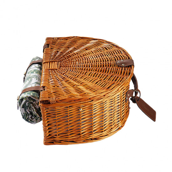 4 PEOPLE LEAF DESIGN PICNIC HAMPER