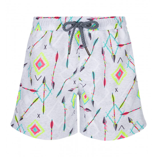 BOYS GREY ARROWS SWIM SHORT