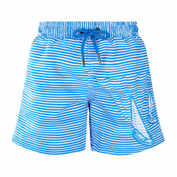 BOYS BLUE BOAT STRIPE SWIM SHORT