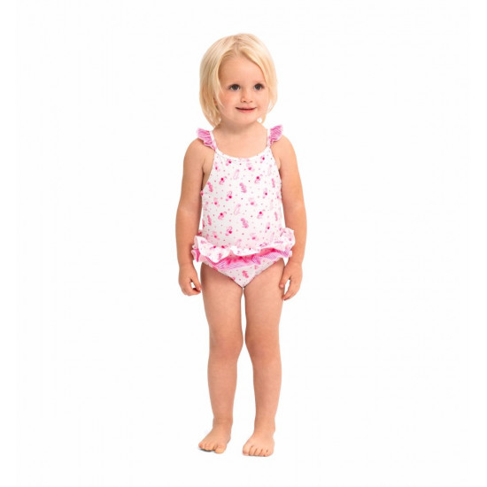 BABY GIRLS PINK SEAHORSE SWIMSUIT