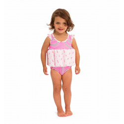 GIRLS PINK SEAHORSE FLOATSUIT