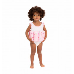 GIRLS PINK ICE CREAM FLOATSUIT