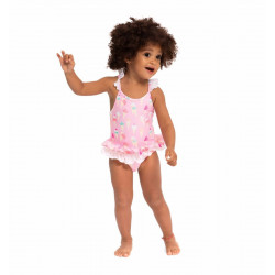 BABY GIRLS PINK ICE CREAM SWIMSUIT
