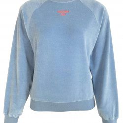 BLUE VELVET SWEATSHIRT FOR WOMEN
