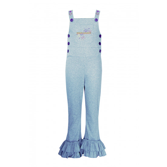 GIRLS OVERALLS WITH COSMIC COVBOYS EMBROIDERED