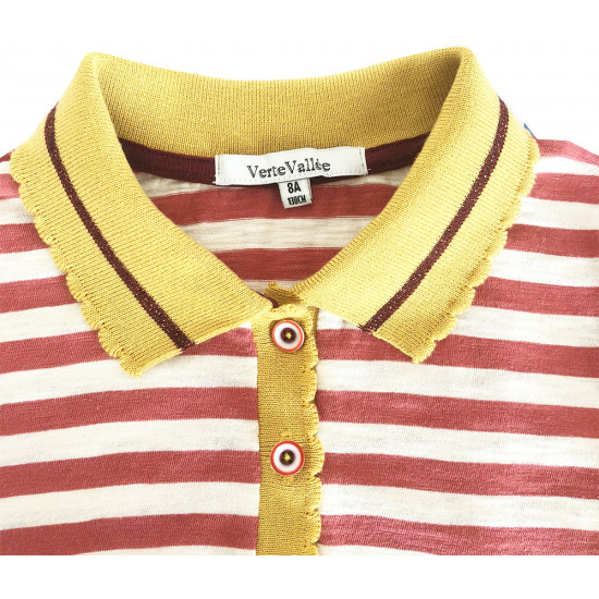POLO T-SHIRT WITH STRIPES