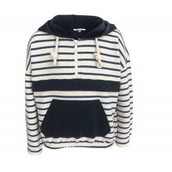 NAVY SWEATSHIRT WITH STRIPES
