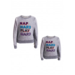 "PARENTS & KIDS COMBINE WITH ""NAP HARD PLAY HARD"" PRINTED"