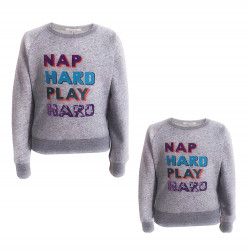 """PARENTS & KIDS COMBINE WITH """"NAP HARD PLAY HARD"""" PRINTED"""
