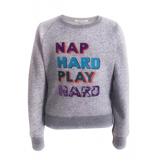 "PARENTS & BABIES COMBINE WITH ""NAP HARD PLAY HARD"" PRINTED"