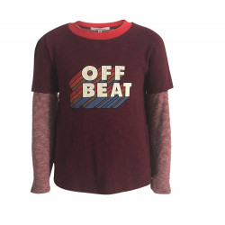 "BOYS T-SHIRT WITH ""OFF BEAT"" PRINTED"