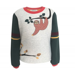 BOYS SWEATSHIRT WITH SLOT PRINTED