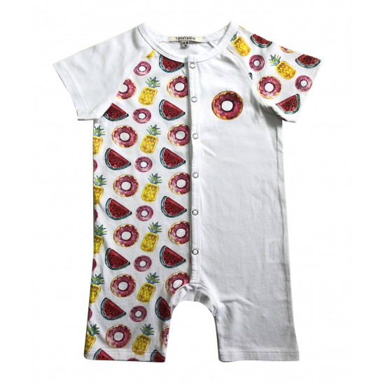 BABY BODYSUIT WITH DONUT PRINTED
