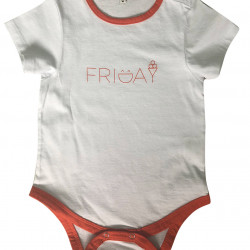 BABY BODYSUIT WITH FRIDAY PRINTED
