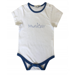 BABY BODYSUIT WITH MONDAY PRINTED