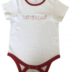 BABY BODYSUIT WITH SATURDAY PRINTED