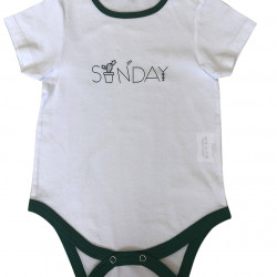 BABY BODYSUIT WITH SUNDAY PRINTED