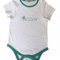 BABY BODYSUIT WITH TUESDAY PRINTED