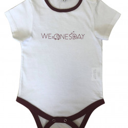 BABY BODYSUIT WITH WEDNESDAY PRINTED