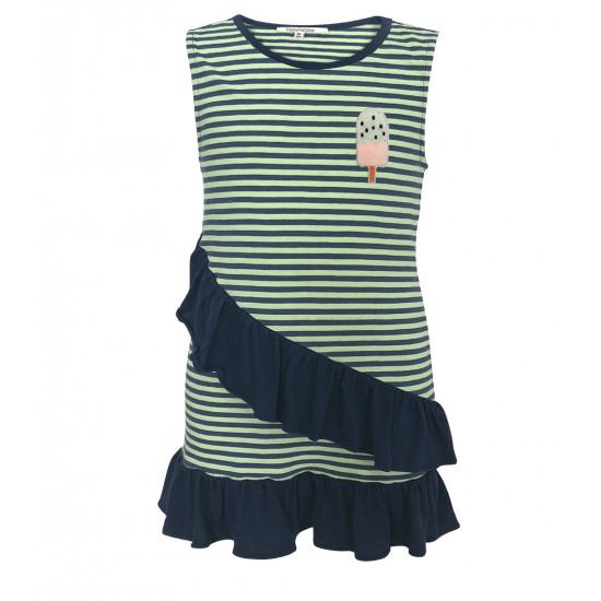 STRIPES DRESS FOR BABY GIRL