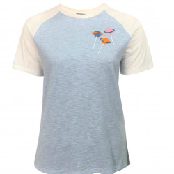 WOMEN T-SHIRT WITH LOLLIPOP EMBROIDERED