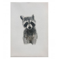 WATERBOARD APPEARANCE RACCOON CANVAS PRINT
