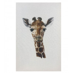 WATERBOARD APPEARANCE GIRAFFE CANVAS PRINT