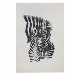 WATERBOARD APPEARANCE ZEBRA CANVAS PRINT